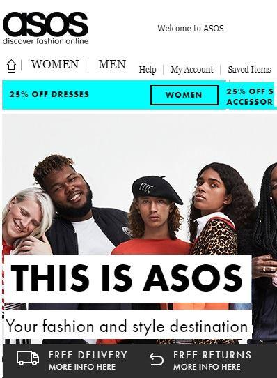 ASOS eshop online