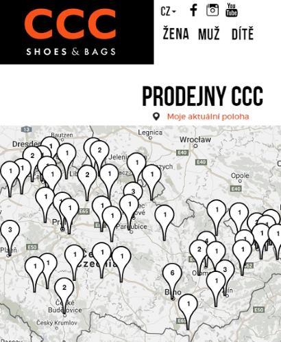Eshop CCC prodejny online recenze