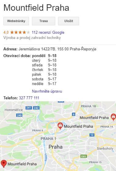 Mountfield prodejny Praha otevírací doba