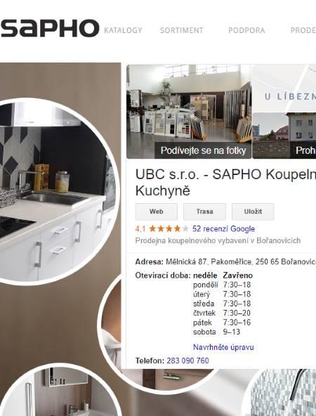 Sapho eshop koupelny