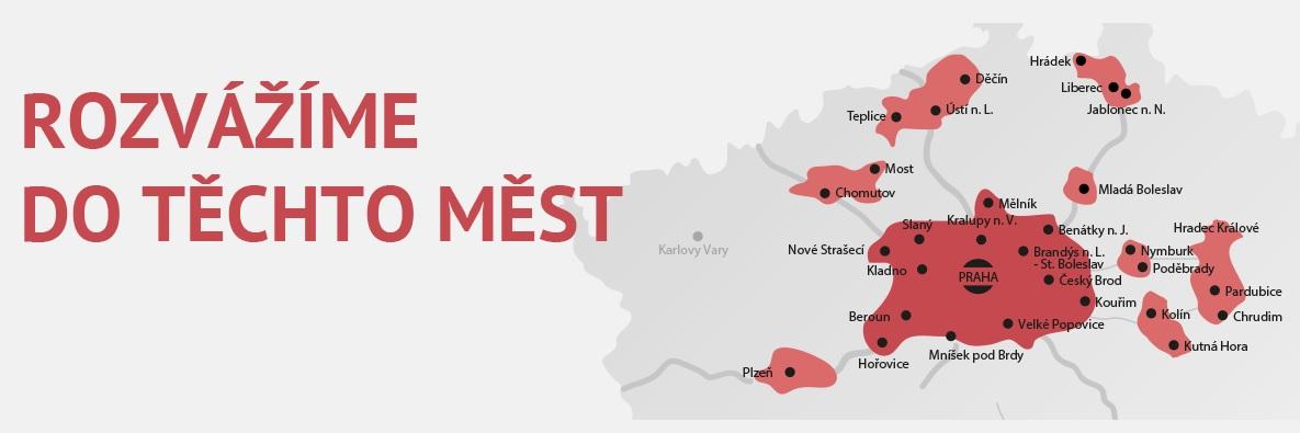 Kde a kam rozváží Košík cz mapa