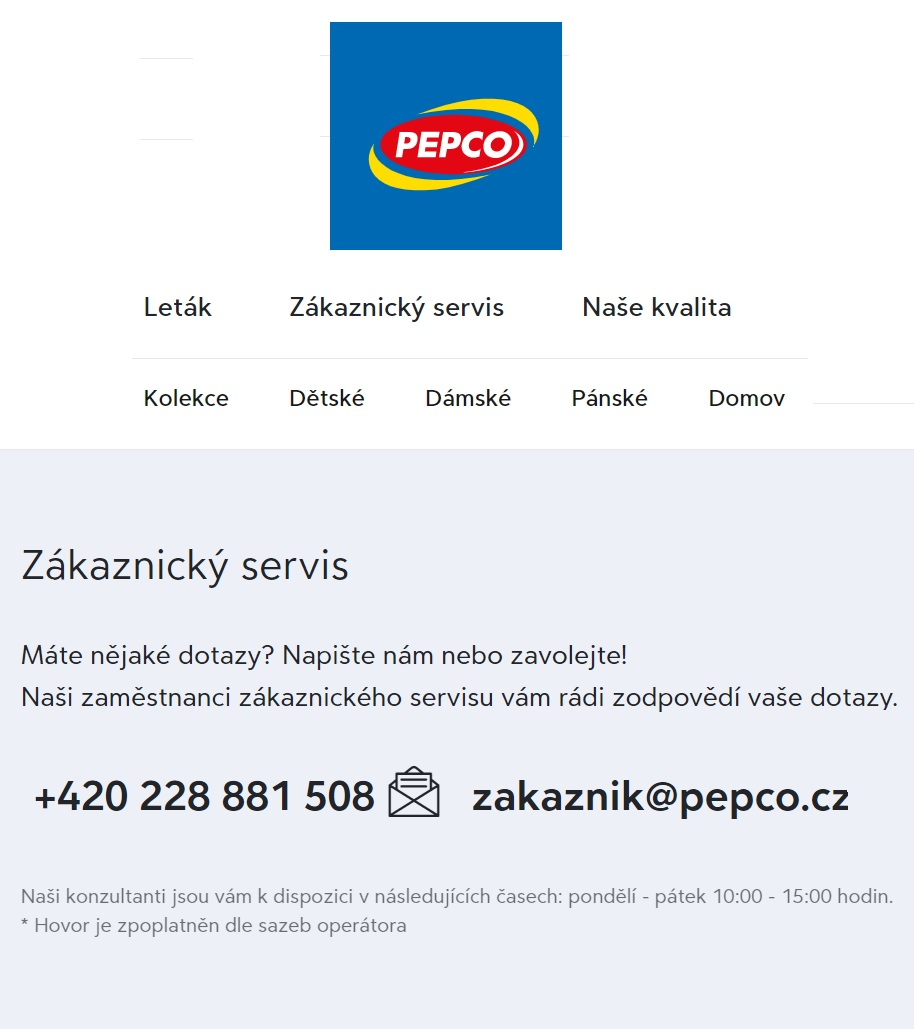 PEPCO Eshop online recenze